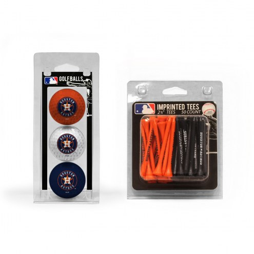 Houston Astros Golf Ball & Tee Pack