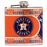 Houston Astros Hi-Def Stainless Steel Flask