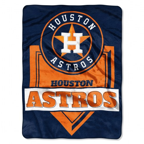 Houston Astros Home Plate Plush Raschel Blanket