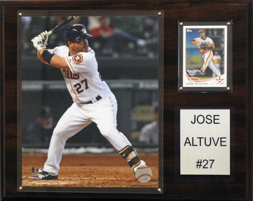 "Houston Astros Jose Altuve 12"" x 15"" Player Plaque"