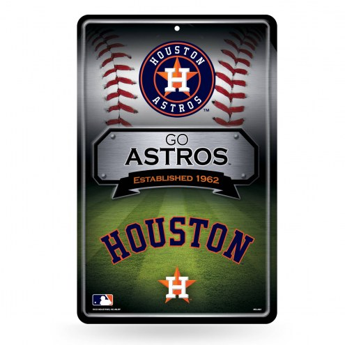 Houston Astros Large Embossed Metal Wall Sign
