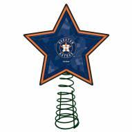 Houston Astros Light Up Art Glass Mosaic Tree Topper