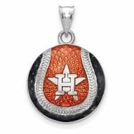 Houston Astros Sterling Silver Baseball Pendant