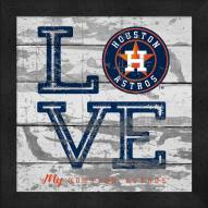 Houston Astros Love My Team Square Wall Decor
