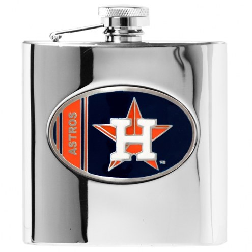 Houston Astros MLB 6 Oz. Stainless Steel Hip Flask