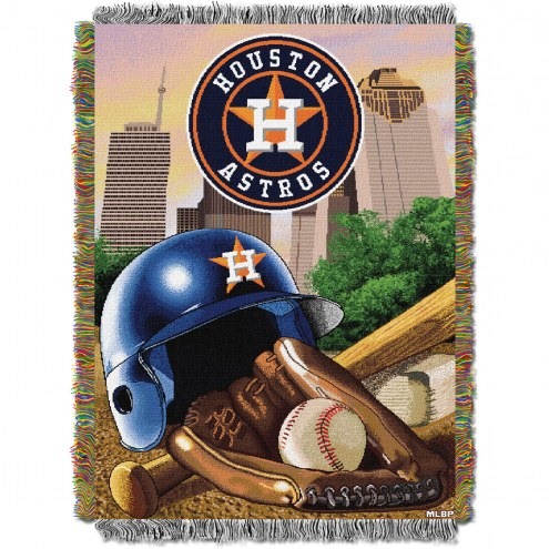 Houston Astros MLB Woven Tapestry Throw Blanket