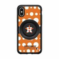 Houston Astros OtterBox Symmetry Polka Dot PopSocket iPhone Case