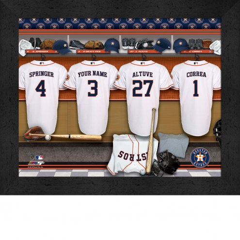 Houston Astros  Personalized Locker Room 11 x 14 Framed Photograph