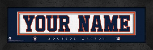 Houston Astros Personalized Stitched Jersey Print