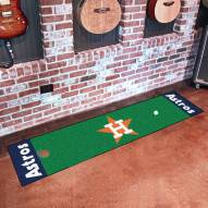 Houston Astros Golf Putting Green Mat
