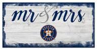 Houston Astros Script Mr. & Mrs. Sign