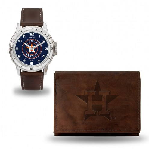 Houston Astros Sparo Men's Niles Watch & Wallet Set
