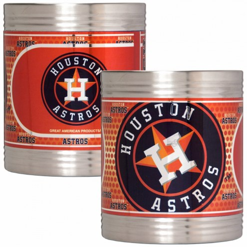 Houston Astros Stainless Steel Hi-Def Coozie Set