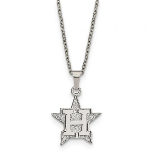 Houston Astros Stainless Steel Pendant Necklace