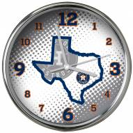 Houston Astros State of Mind Chrome Clock