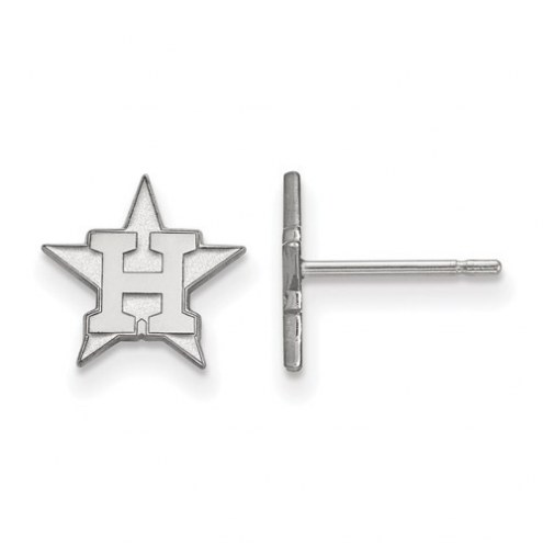 Houston Astros Sterling Silver Extra Small Post Earrings