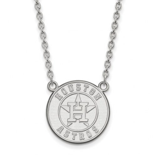 Houston Astros Sterling Silver Large Pendant Necklace