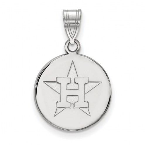 Houston Astros Sterling Silver Medium Disc Pendant