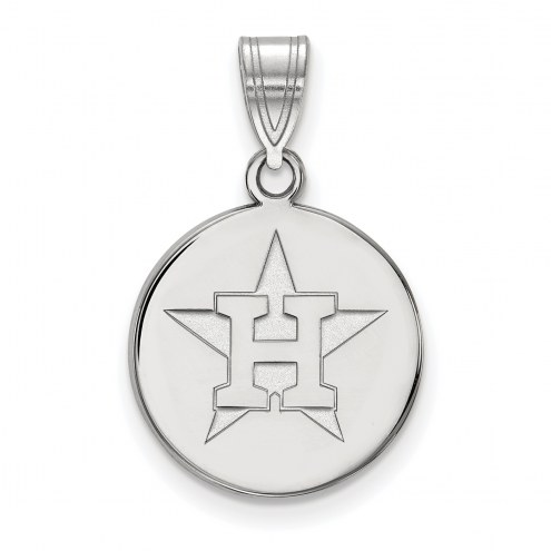 Houston Astros Sterling Silver Medium Disc Pendant
