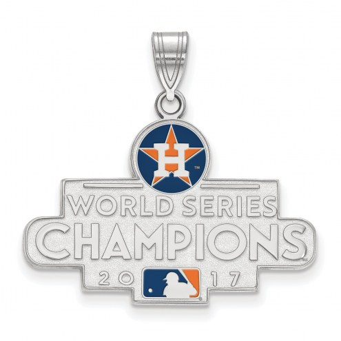 Houston Astros Sterling Silver Medium Enameled Pendant