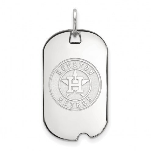 Houston Astros Sterling Silver Small Dog Tag