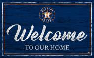 Houston Astros Team Color Welcome Sign