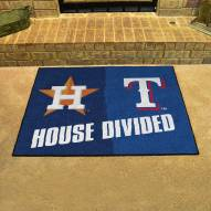 Houston Astros/Texas Rangers House Divided Mat
