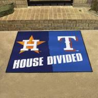Houston Astros/Texas Rangers House Divided Mat