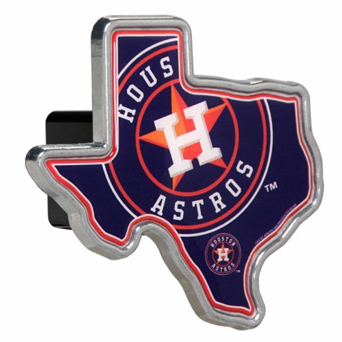 Houston Astros Texas Shaped Trailer Hitch Cover