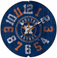 Houston Astros Vintage Round Clock