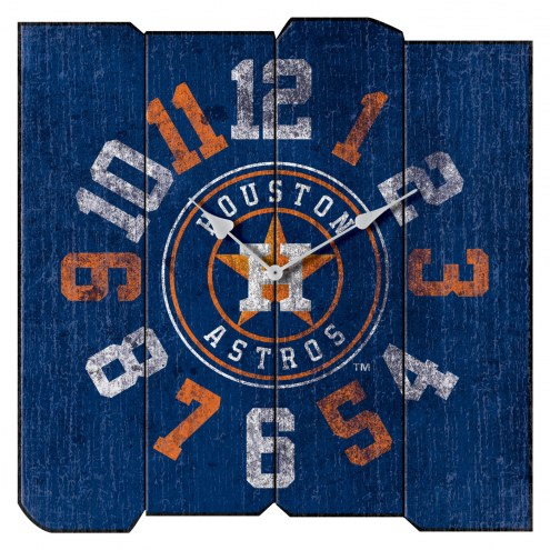 Houston Astros Vintage Square Clock