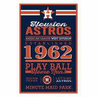 Houston Astros Established Wood Sign