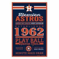 Houston Astros Established Wood Sign