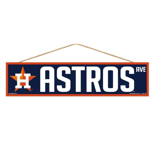 Houston Astros Wood Avenue Sign