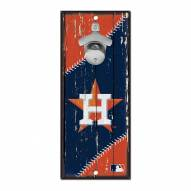 Houston Astros Wood Bottle Opener