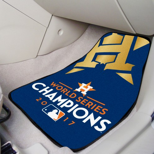 Houston Astros World Series Champions 2-Piece Carpet Car Mats