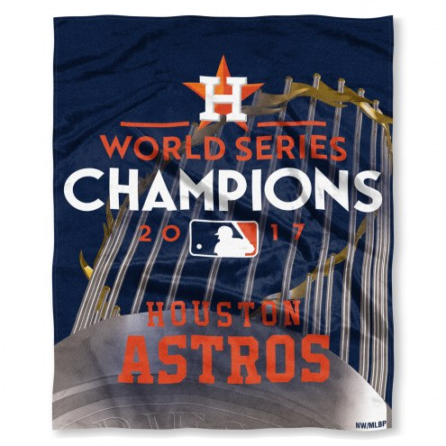 Houston Astros World Series Champions Silk Touch Blanket