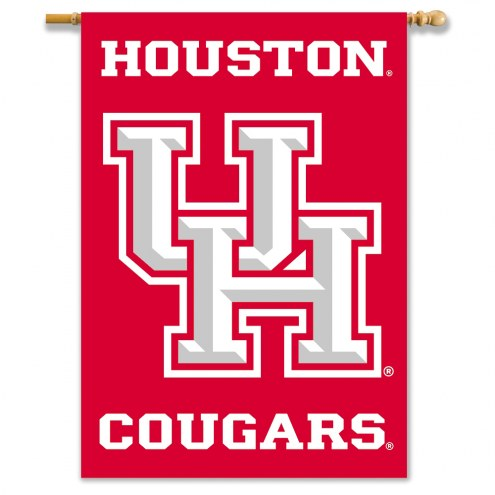 """Houston Cougars 28"""" x 40"""" Two-Sided Banner"""