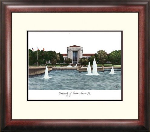 Houston Cougars Alumnus Framed Lithograph