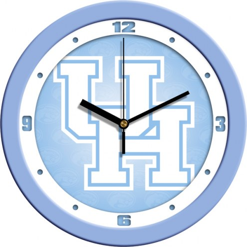 Houston Cougars Baby Blue Wall Clock
