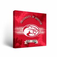 Houston Cougars Banner Canvas Wall Art