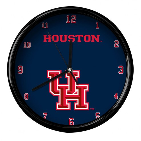 Houston Cougars Black Rim Clock