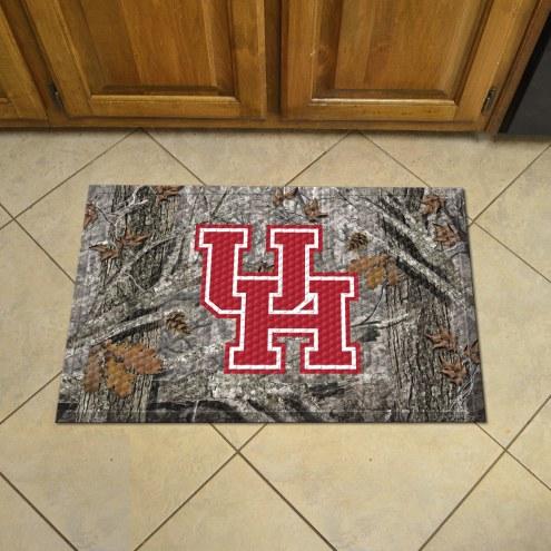 Houston Cougars Camo Scraper Door Mat
