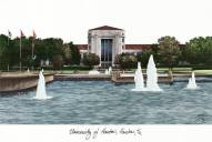 Houston Cougars Campus Images Lithograph