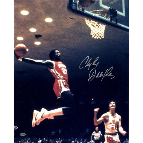 """Houston Cougars Clyde Drexler Air Dunk Signed 16"""" x 20"""" Photo"""