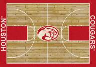 Houston Cougars College Home Court Area Rug