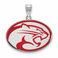 Houston Cougars Sterling Silver Large Enameled Pendant