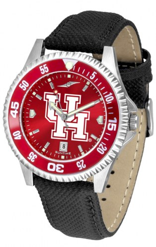 Houston Cougars Competitor AnoChrome Men's Watch - Color Bezel