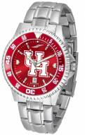 Houston Cougars Competitor Steel AnoChrome Color Bezel Men's Watch