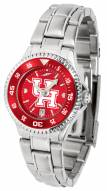 Houston Cougars Competitor Steel AnoChrome Women's Watch - Color Bezel